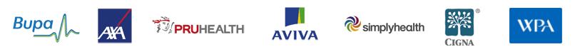 Axa, Bupa, PRUHEALTH, AVIVA, simplyhealth, CIGNA & WPA insurance accepted at Bodytonic clinics